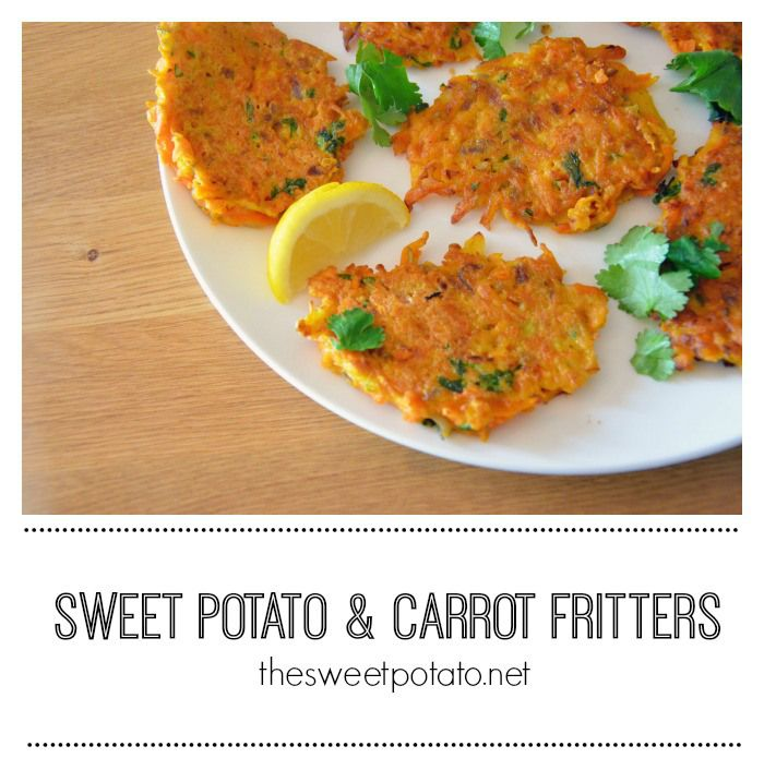 Sweet Potato and Carrot Fritters. So very simple and so very good!
