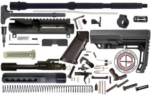 "DIY 16"" .223/5.56 Carbine AR-15 Project Kit with MFT Battlelink Minima – Ground Zero Precision"