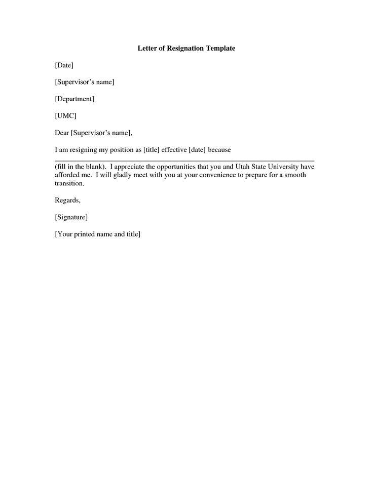 Resignation Letter Sample Free - Atarprod.Info