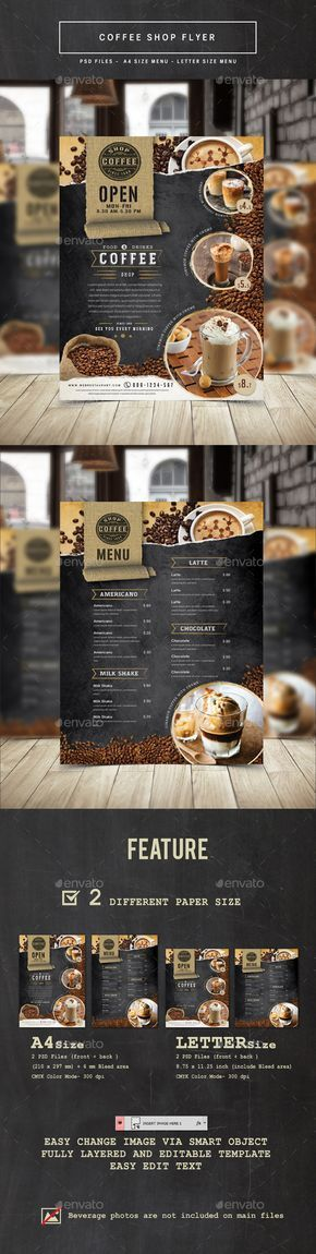 67 best Food Branding images on Pinterest Flyers, Advertising - coffee shop brochure template