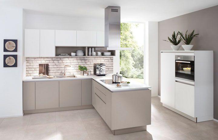 nolte Küche grau weiß grifflos