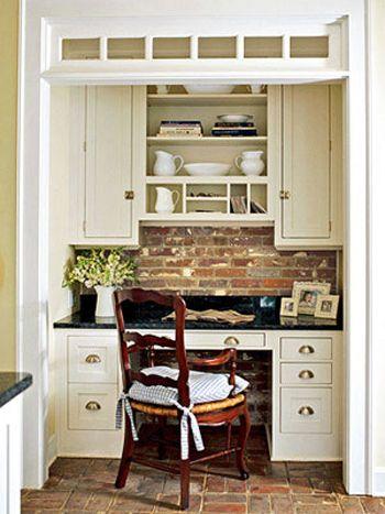 kitchen desk area (homework station)