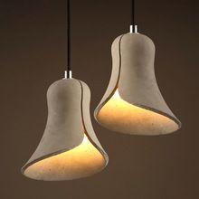 New Design Cement Pendant Lights Horn Restaurant Bar Dining Table Lamp 16*16*18cm E27 Pendant Lights Art Home Hanging Lamps(China (Mainland))