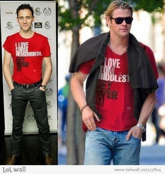 Chris Hemsworth and Tom Hiddleston - this is love!