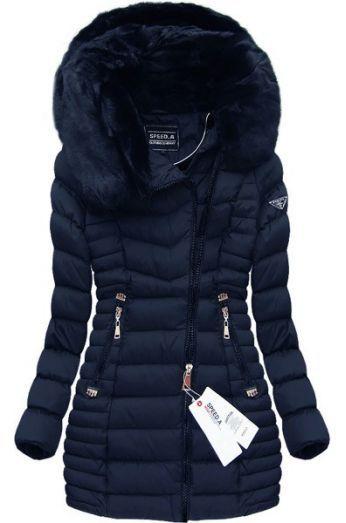 Dámska zimná bunda W820 modrá