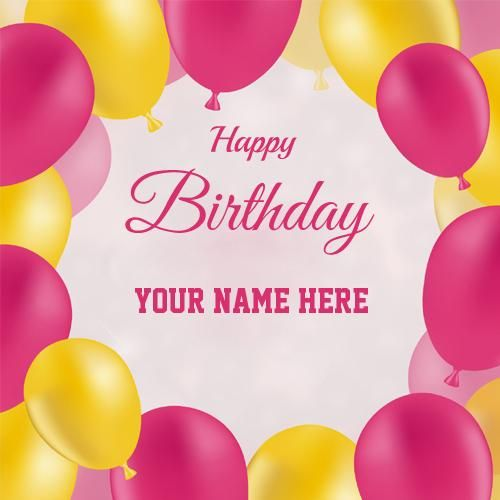 Elegant Birthday Decoration Greeting With Your Name