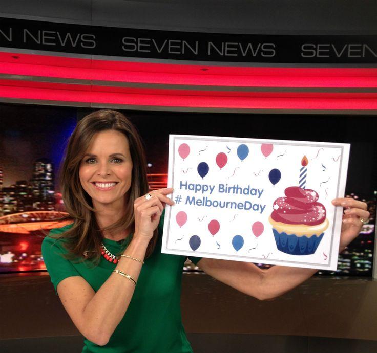 Seven News weather presenter Jo Silvagni. #MelbourneDay