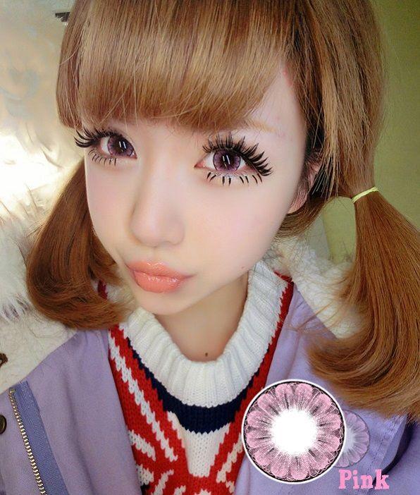 Cosmetic Colored Prescription Contact Lenses Plum Blossom (Pink)