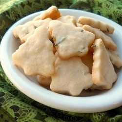 Rosemary Shortbread Cookies - Allrecipes.com These were the hit at Christmas time. And I am craving them again.