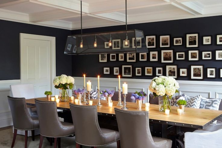 gorgeous blue dining room