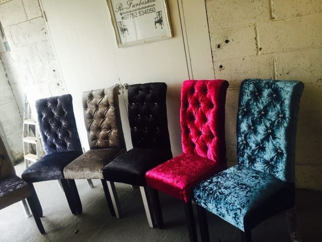 Crushed Velvet Dining Chairs | Comfort Direction Trading As Bespoke  Furnishings Part 43