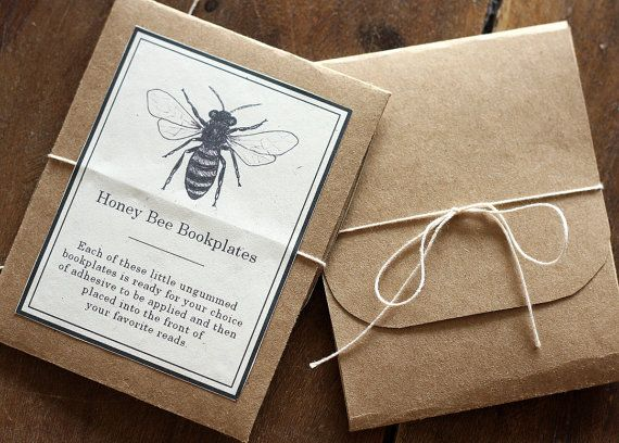 Bee Bookplates  Digital  Printable PDF by AliceCantrell on Etsy, $3.50
