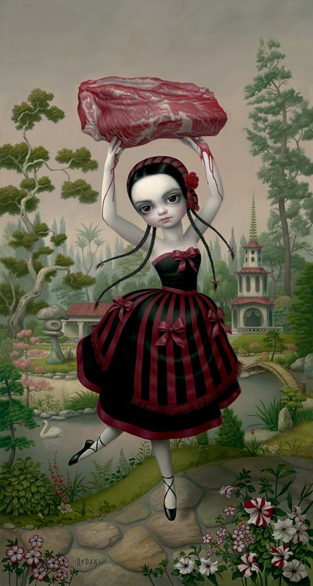 I once dated a girl, I knew was a horrible idea after I saw she had a Mark Ryden painting tattooed on her.