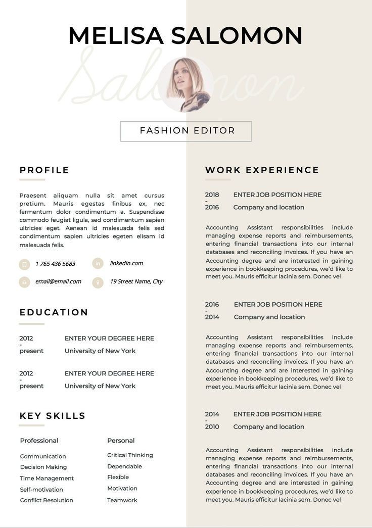 Resume Template Cv Template Resume Cv Design Teacher Etsy Cv Template Cv Design Resume Templates