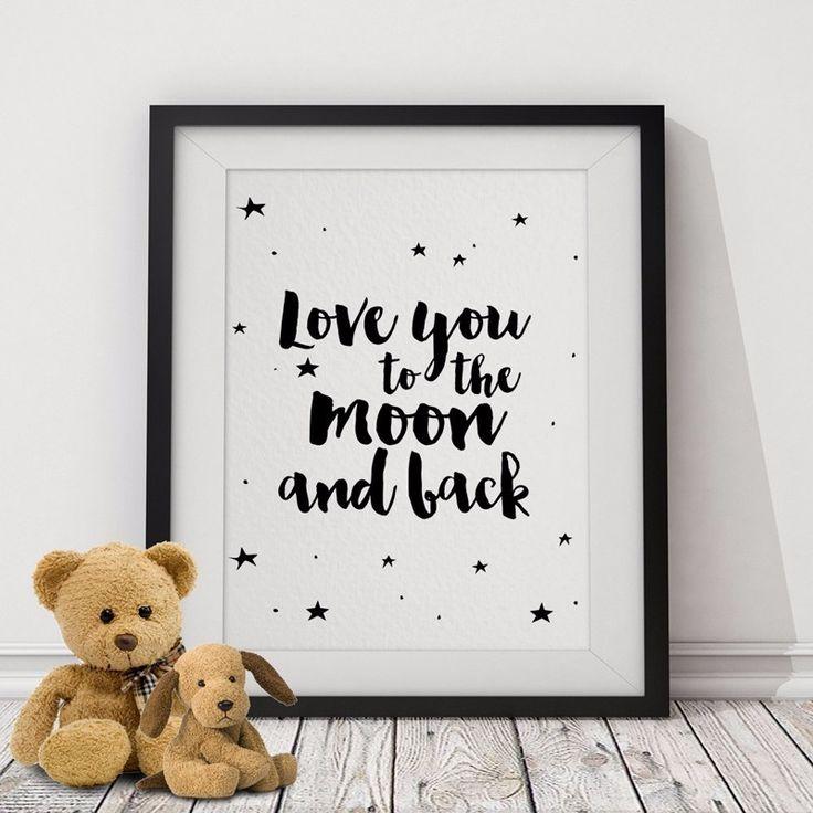 Aliexpress.com: Comprar Te amo a La Luna y Volver A4 Cartel Estrellas, Citas de motivación Cuadro de la Pared de Lona Art Prints niños Room Decor Sin Marco de art print fiable proveedores en Shop1526178 Store