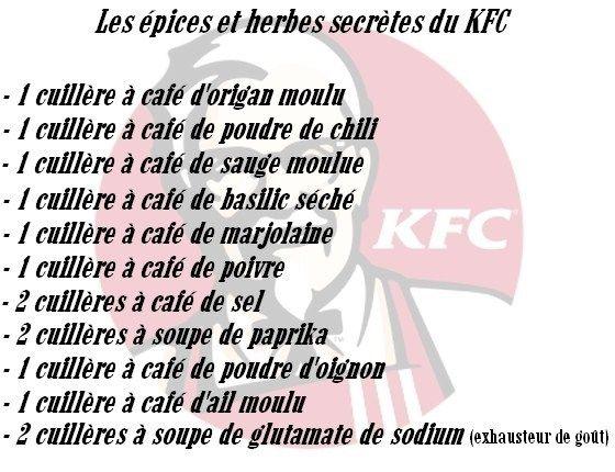 La recette secrète du poulet frit du KFC