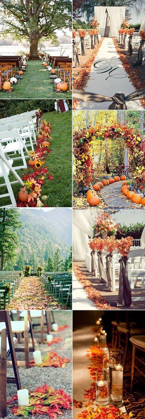 fall wedding aisle decoration ideas