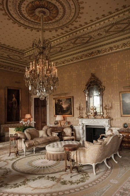 Decor Design Review - gold drawing room at Ballyfin