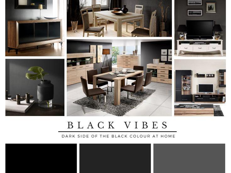 Czarna inspiracja aranżacyjna #czarnemeble #twojemeble  #czarnearanżacje #black #czarny #blackcolor #blackhome #czarnedodatki #dodatki
