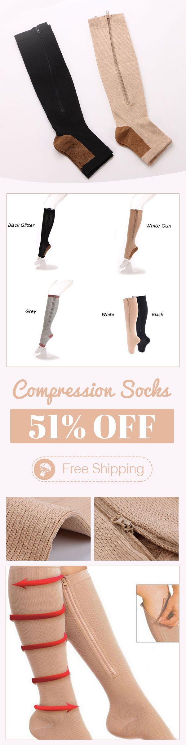 Durable Soothe Varicose Veins Compression Socks Stocking Sleep Leg Slimming
