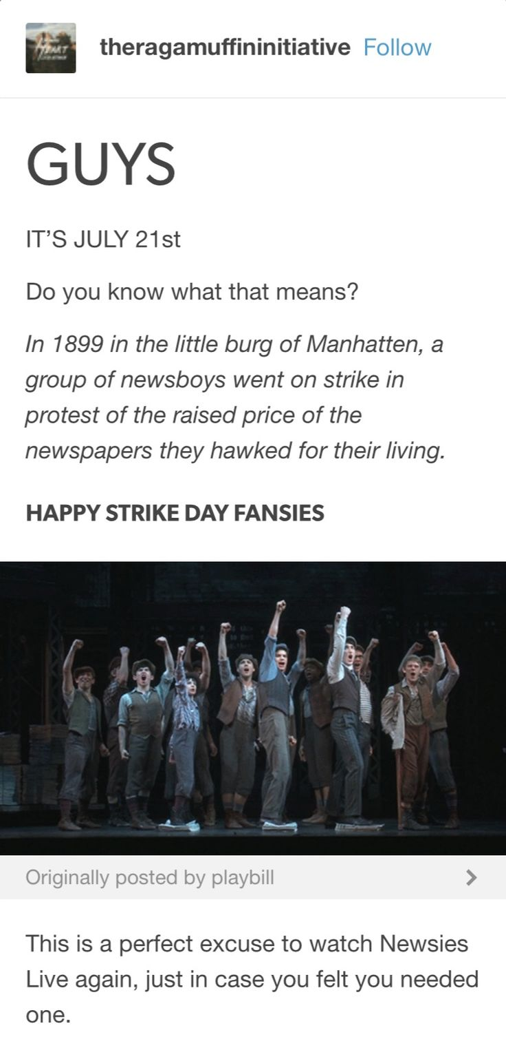 There are no excuses to watch Newsies Live EVER
