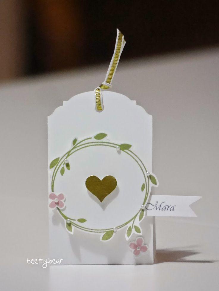stampin with beemybear: Hochzeit, Tischkarte, Stampin'up, Perfekter Tag