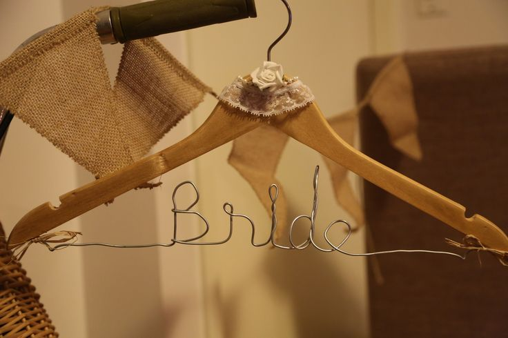 Handcrafted wooden 'Bride' coat hanger. It's the little things that count and can tip your day from being a special occasion to a day you will never forget <3