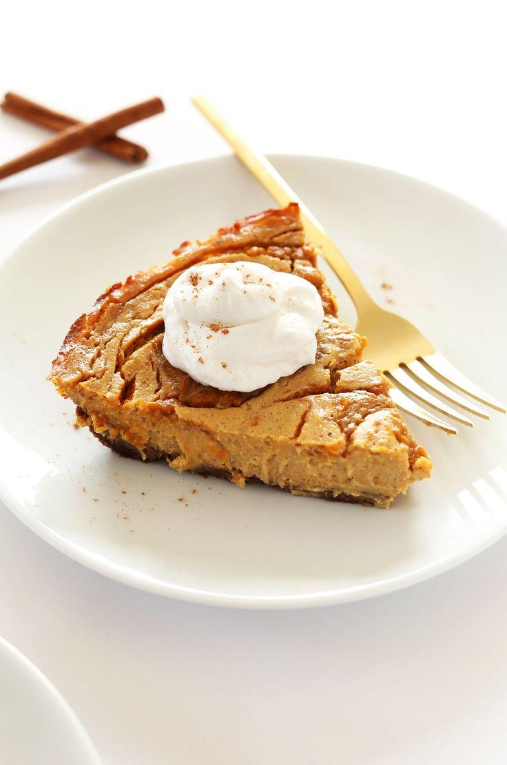AMAZING Pumpkin Swirl Cheesecake! Entirely #VEGAN and SO delicious!