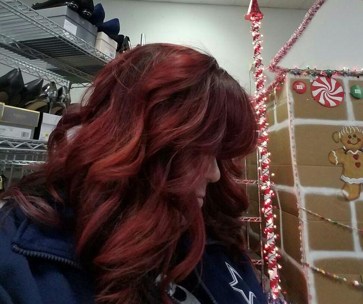 Dark Red thanks to Curl Up N Dye Salon.