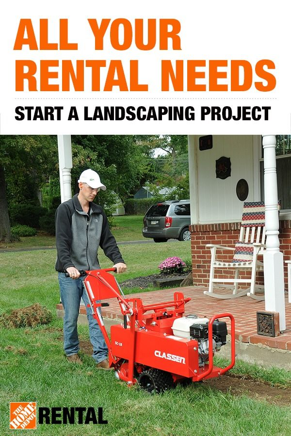 Spring Projects Are Now Easier Than Ever With The Home Depot Rental In 2020 Outdoor Jobs Rental Landscape Plan