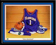 Florida Gators Framed Basketball Picture