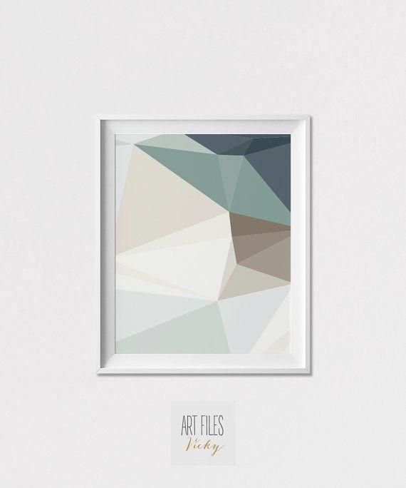 Geometrische Kunst print Wandkunst minimalistisch von ArtFilesVicky