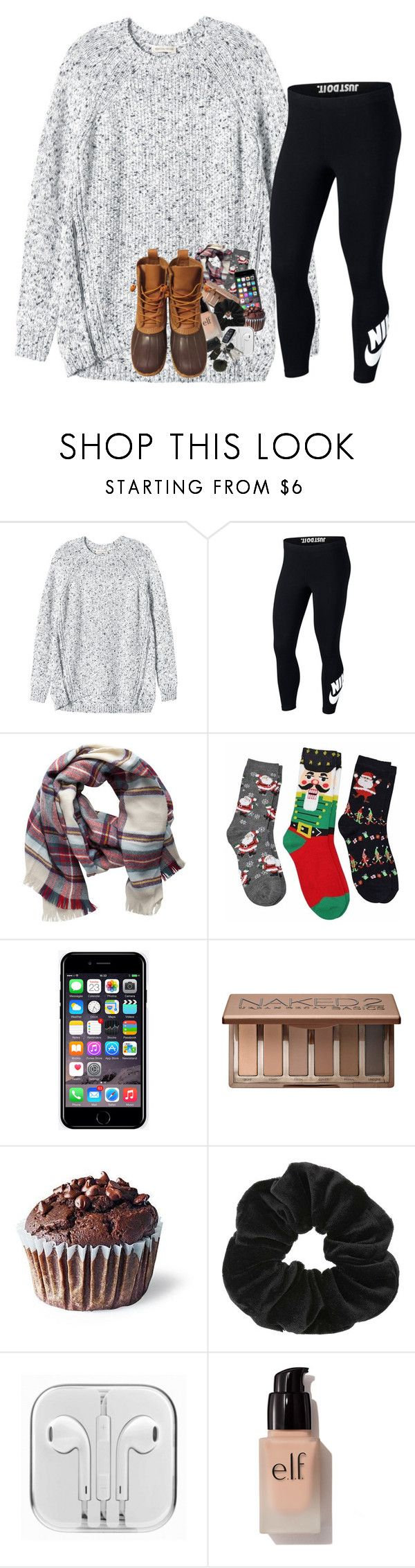 """sick day "" by prepstergab ❤ liked on Polyvore featuring Rebecca Taylor, NIKE, Pieces, Off-White, Urban Decay, Miss Selfridge, e.l.f. and L.L.Bean"
