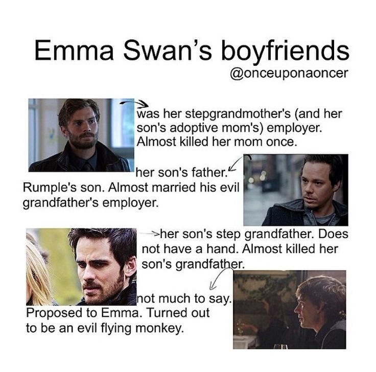 I can't exactly say I agree with Emma's taste, but what can you do if you are surrounded by fairytale characters who anything but fairytale material?