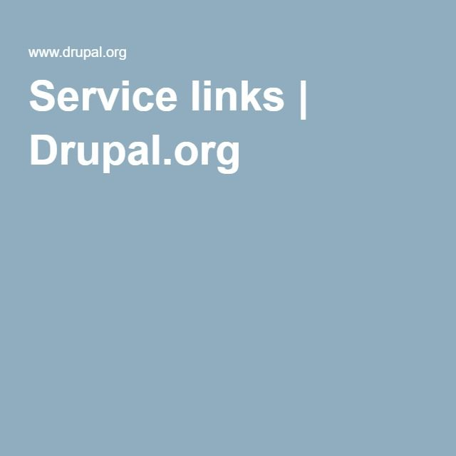 Service links | Drupal.org