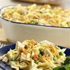 tuna noodle casserole (Tested and Approved...added uncooked celery and some grated cheese.)