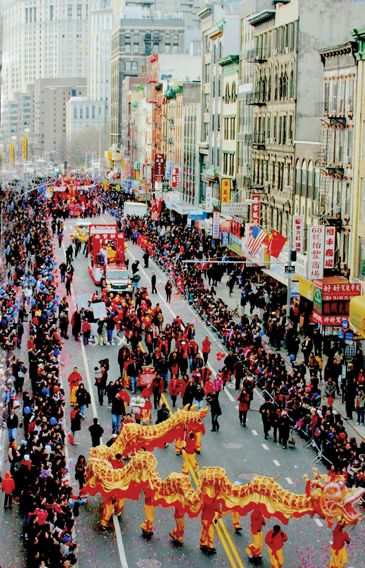 Celebrate the Chinese Lunar New Year in Chinatown, NYC 2/21/15 1:00pm; best viewing area on Allen St between Canal & Grand
