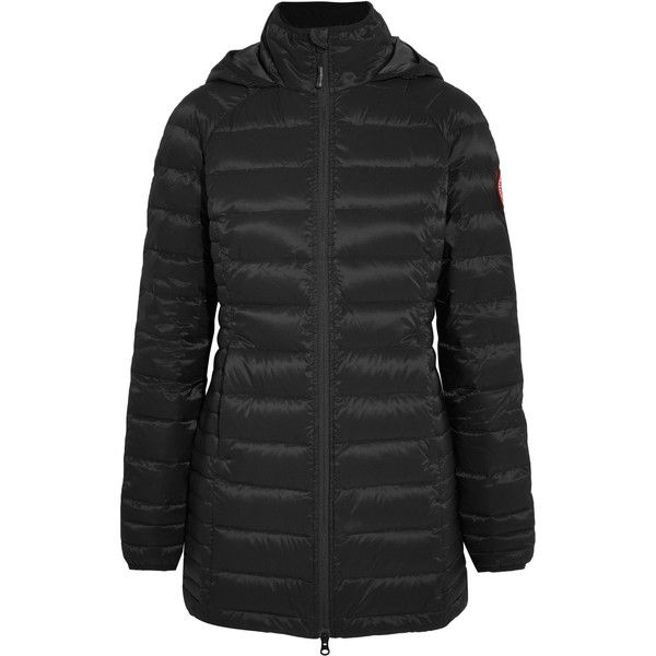 Canada Goose Canada Goose - Brookvale Quilted Shell Down Jacket -... (€490) via Polyvore featuring outerwear, jackets, shell jacket, quilted jacket, hooded jacket, canada goose jacket and wind proof jacket