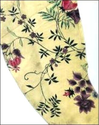 18th century hand painted Chinese silk.