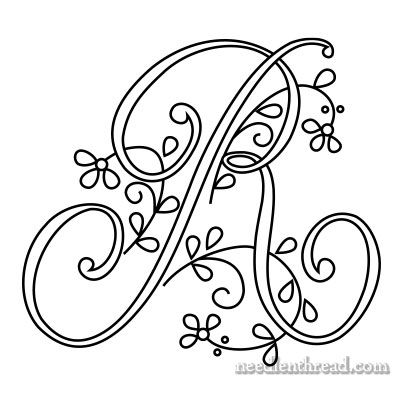 Embroidered Monogram N & More Letters – NeedlenThread.com