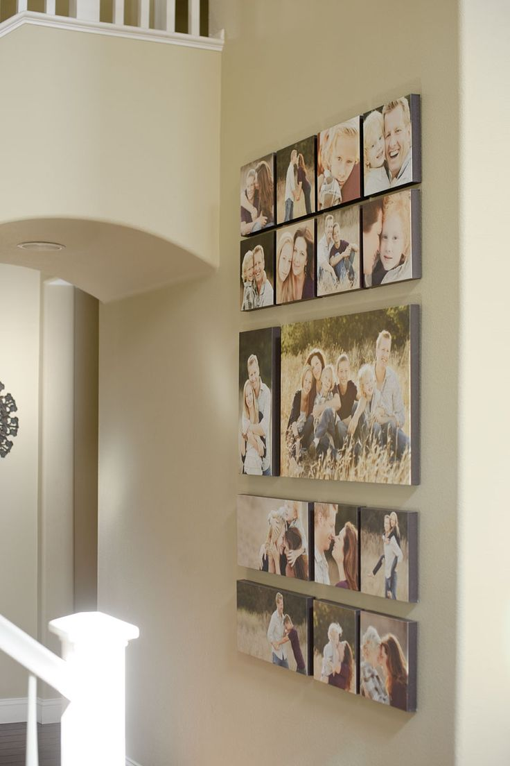 Canvas wall grouping 20 x 30, 3- 10 x 20's, 12- 10 x 10's ...