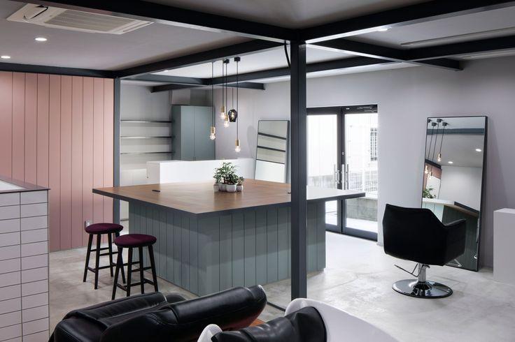 Hair salon in Japan by Hidenori Tsuboi Architects