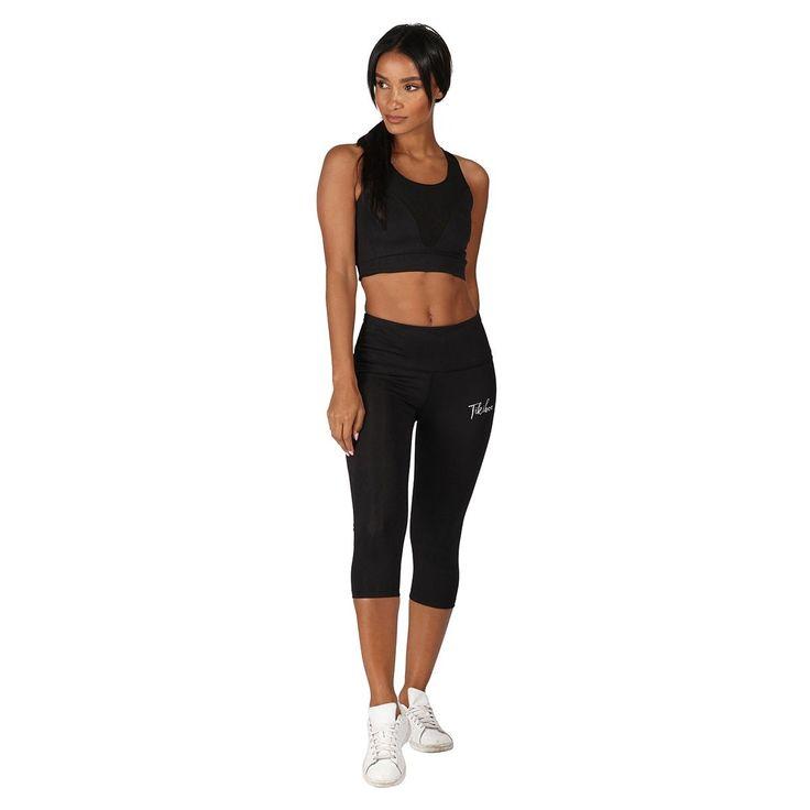 Black Signature Capri #Activewear #Gymwear #FitnessLeggings #Leggings #Tikiboo #Running #Yoga