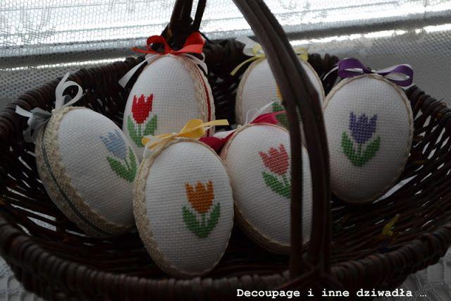 decoupage i inne dziwadła ...: Krzyżykowe jaja