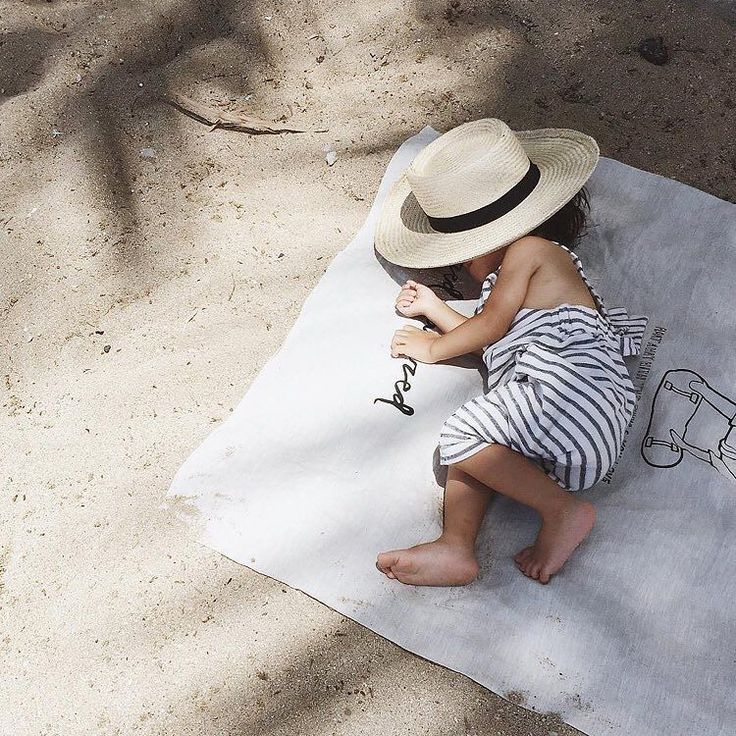 Naps on the beach are the best repost from @sweetotto #stripydungarees #monkind…