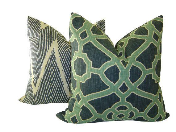 Trellis Lattice Decorative Pillow by CaliforniaLivinHome on Etsy
