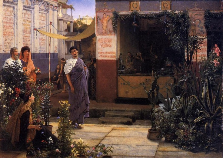 Google Image Result for http://www.paintinghere.com/UploadPic/Sir%2520Lawrence%2520Alma-Tadema/big/The%2520Flower%2520Market.jpg
