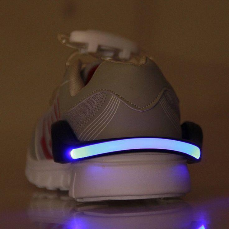 LED Luminoso Clip de Zapato Luz de Noche Luz de Advertencia de Seguridad de Flash LED Brillante Para Correr Ciclismo Bicicleta Nueva Llegada