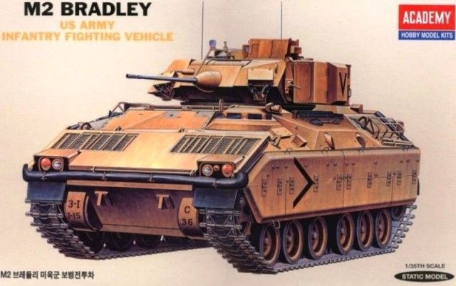 M2 Bradley, Infantry Fighting Vehicle, US Army. Academy, 1/35, injection, No.13237. Price: 15,59 GBP.