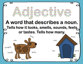 Blog post - using mentor texts for teaching adjectives with a freebie.